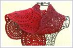 شال گردن دخترانه قرمز