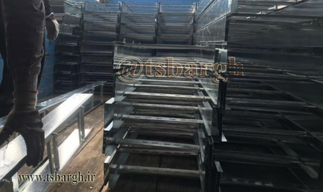 انواع سينی نردبان کابل گالوانیزه آبکاری گرم02133530243 سینی کابل تیک