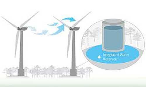 تولید آب از توربین بادی