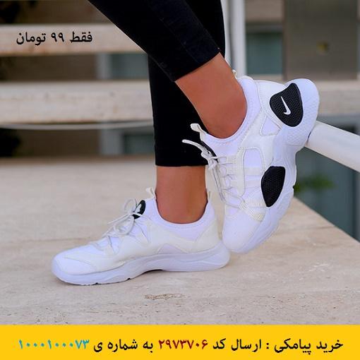 خرید پیامکی کفش دخترانه NIKE مدل Eva(سفید)