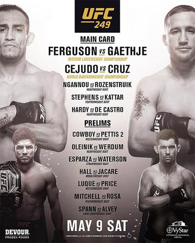 دانلود رویداد یو اف سی  249  : UFC 249: Ferguson vs. Gaethje