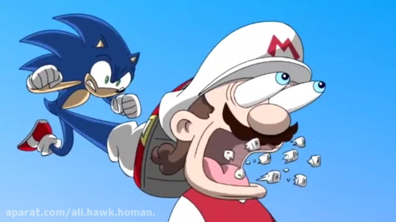 مبارزه ی سونیک علیه ماریو دوبله حرفه ای فارسی ( مبارزات ستاره ها قسمت اول )