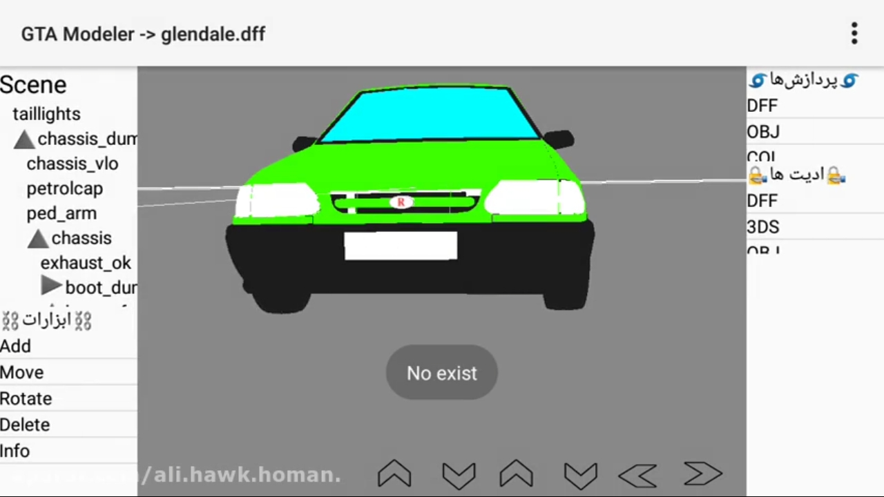 ادیت فایل DFF با گوشی ( GTA EDIT ) ساخت مود با گوشی