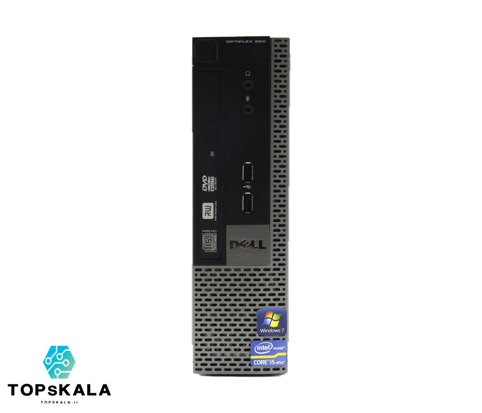 کامپیوتر میکرو استوک دل مدل DELL Optiplex 990 USFF با مشخصاتCPU intel Core i5 2400-RAM 4GB-HARD 250GB HDD-2GB shearing intel HD 3000 - تاپس کالا - PC-Desktop-micro-DELL-Optiplex-990-USFF-CPU-intel-Core-i5-2400-RAM-4GB-HARD-250GB-HDD-2GB-shearing-intel-HD-3000
