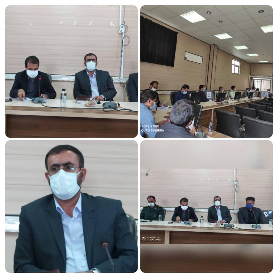 جلسه شورای اداری قلعه گنج با حضور شکرالهی