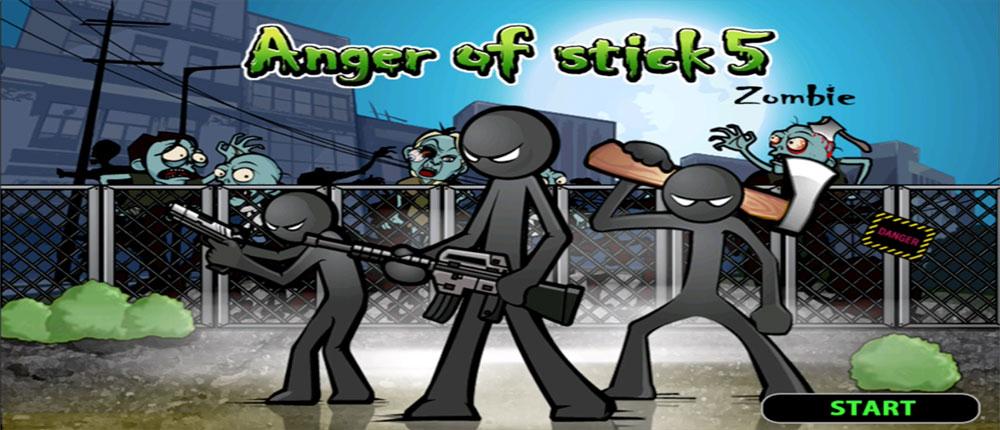 """دانلود Anger of Stick 5 – بازی اکشن""""خشم آدمک 5″ اندروید"""