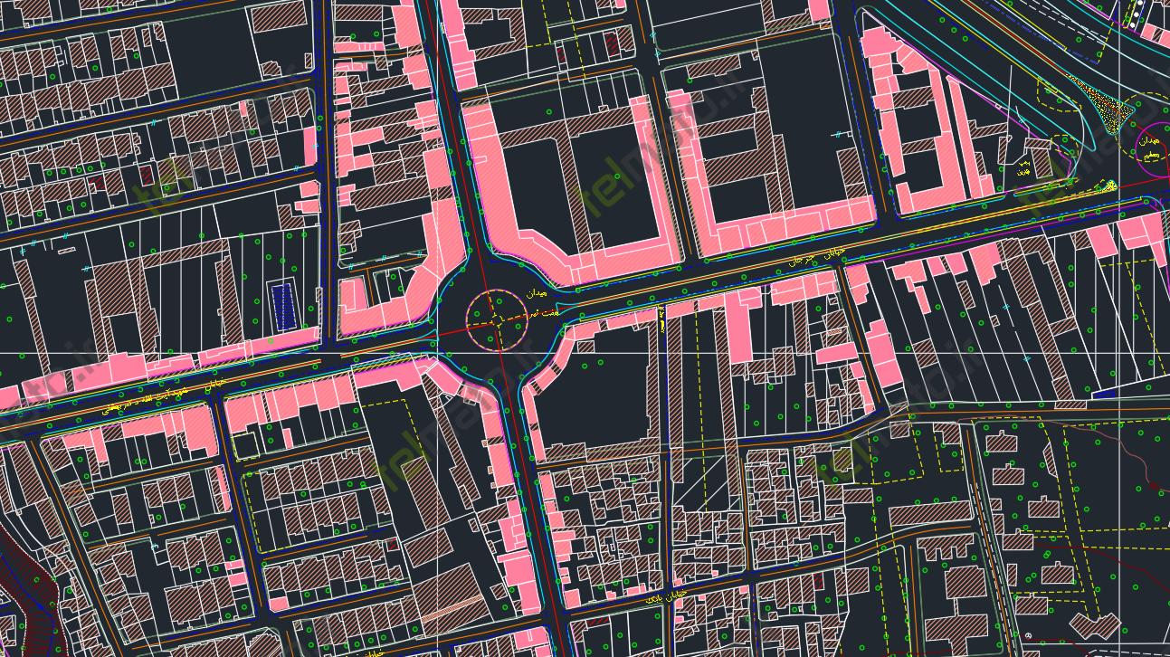 دانلود نقشه اتوکد و طرح تفصیلی شهر گرگان با فرمت gorgan autocad DWG + فایل آماده