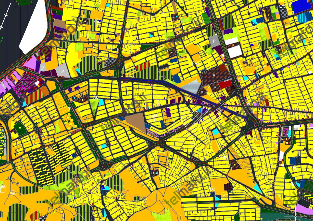 دانلود نقشه اتوکد و طرح تفصیلی شهر تبریز با فرمت DWG + فایل آماده